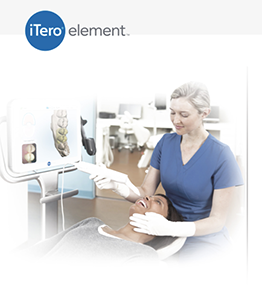 A picture of a person using the iTero appliance.
